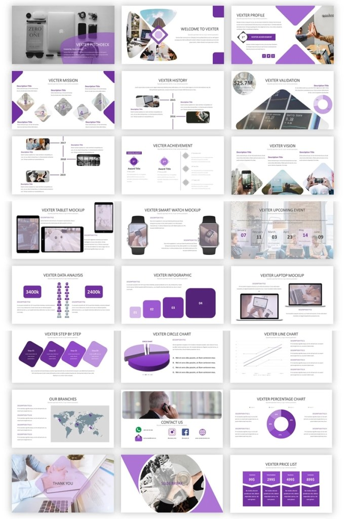 vexter simple business powerpoint template 85306