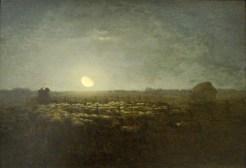 Jean-François Millet, Parc à moutons, clair de lune, 1856-1860, Baltimore, The Walters Art Museum