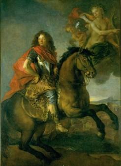 Charles de La Fosse, Portrait équestre d'Armand-Jean de Vignerod du Plessis, duc de Richelieu, v. 1670-1675, Tours, musée des beaux-arts.