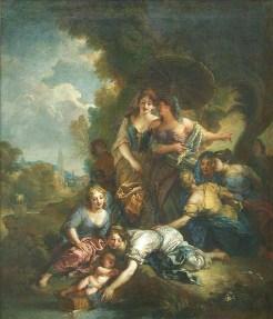 Charles de La Fosse, Moïse sauvé des eaux, 1701, Paris, musée du Louvre.