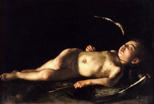 Caravage, Amour endormi, 1608, Huile sur toile, Florence, Palazzo Pitti