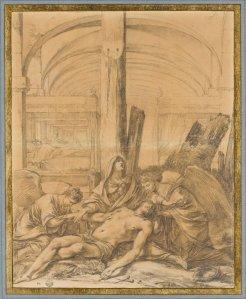 Laurent de La Hyre, La Déploration dans un hôpital, Paris, musée du Louvre.