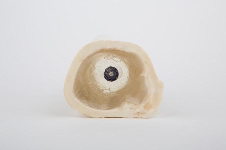 Marion Catusse, Mawu & Lisa, 2014 Marrowbone, resin, ink and glue, 10cm x 7cm x 6cm