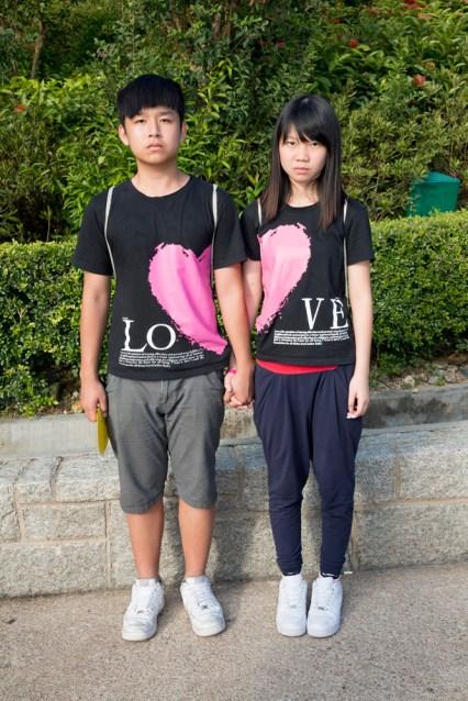 HONG KONG. Ocean Park. Chan Tso Chi on left with Wu Pak Hang. 2013.