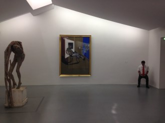Berlinde de Bruyckere et Francis Bacon, Seated Figure, 1974 / © Benjamin Hoffman