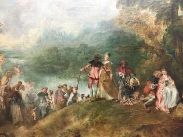 Jean-Antoine Watteau, Le Pèlerinage à l'Île de Cythère, 1717 , Paris, Musée du Louvre