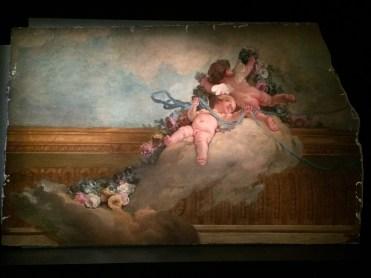 Louis-Jacques Durameau (1733-1796), Le Lever de l'Aurore (fragment) détail, vers 1768-1769, plafond pour la chambre à coucher. © Damien Tellas