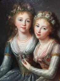 Vigée Le Brun, Filles des Paul Ier, les grandes-duchesses Alexandra Pavlovna et Eléna Pavlovna (détail), 1796