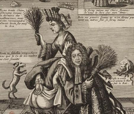 François Guérard, Femme battant son mari, v. 1680-1700, eau-forte, Paris, Bibliothèque nationale. © BnF, Estampes et photographie