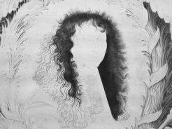 Nicolas de Poilly, Portrait de Louis XIV, v. 1660-1670, état inachevé, pointe sèche et burin, Paris, Bibliothèque nationale. © Damien Tellas