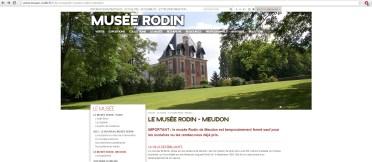 Le nouveau message sur le site officiel du musée/ capture d'écran du mercredi 16 décembre 2015