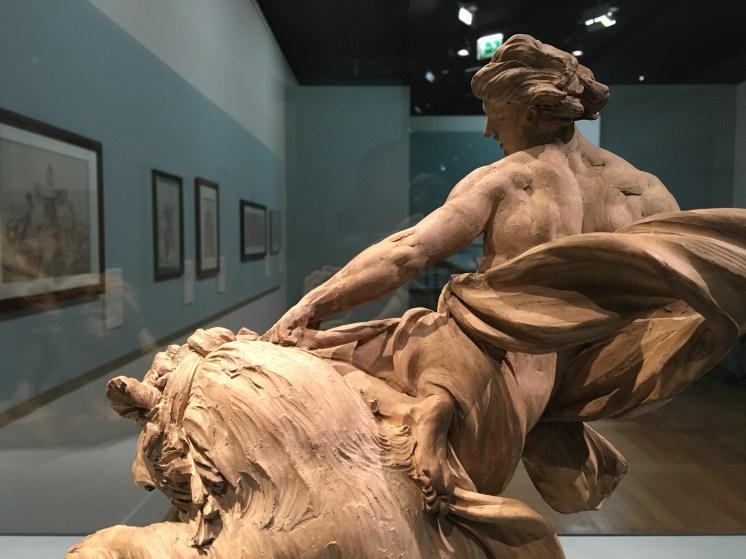 Edme Bouchardon, Athlète domptant un lion, terre cuite, Saint-Pétersbourg, musée de l'Ermitage.