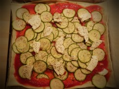 2. Pizza courgette chèvre