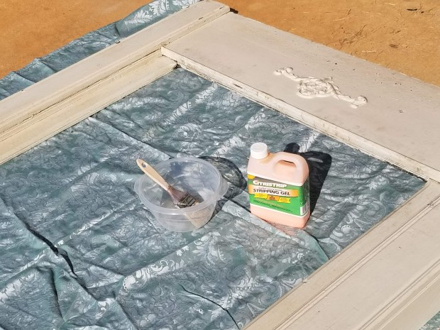 safe way to remove lead paint is by using paint stripper. As opposed to sanding this keeps lead particles from being ingested through the air.
