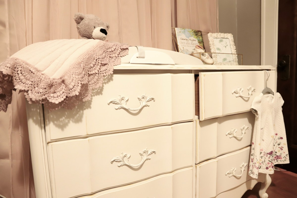 refinished dresser/changing table is what all the new mommies are asking for!