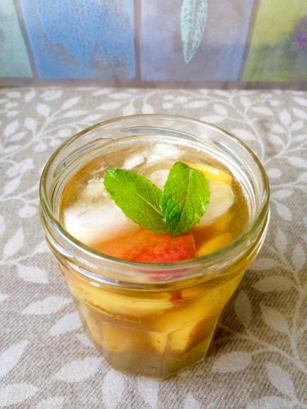 Peach infused maple water