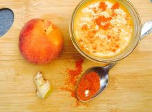 turmeric ginger peach smoothie