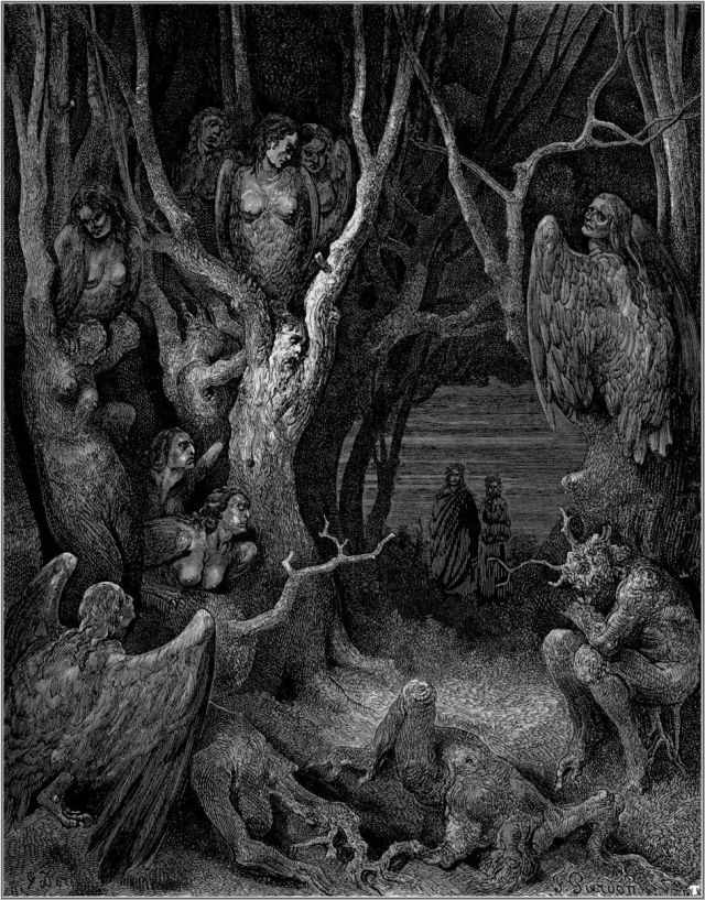 Harpies in the Forest of Suicides, Gustave Doré