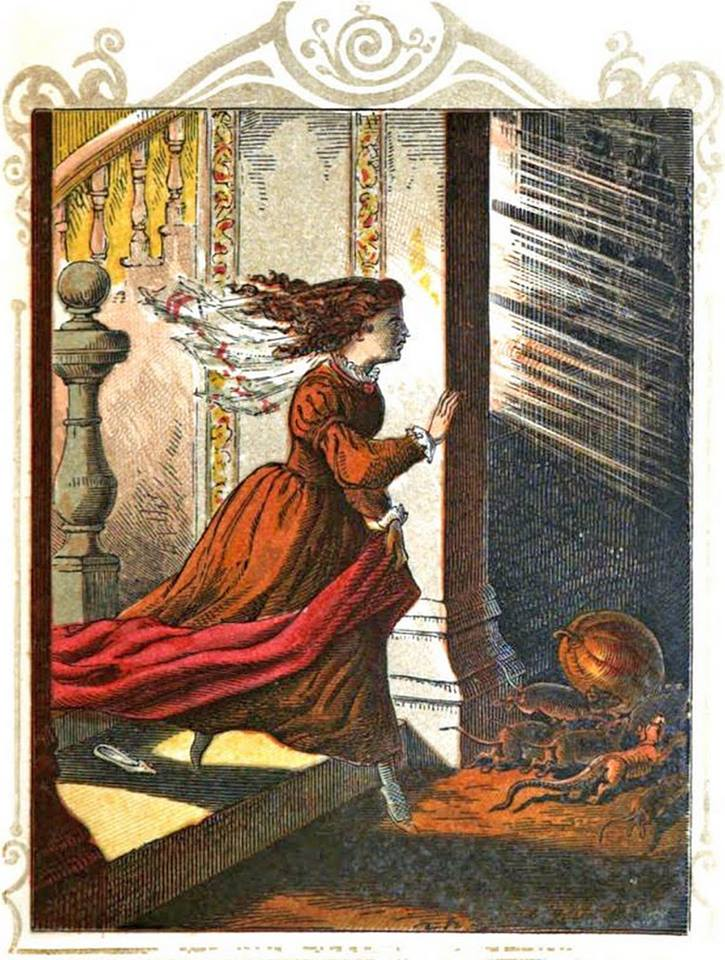 outta my way there's autumn things happening {Illustration from Favorite Fairy Tales, 1861}