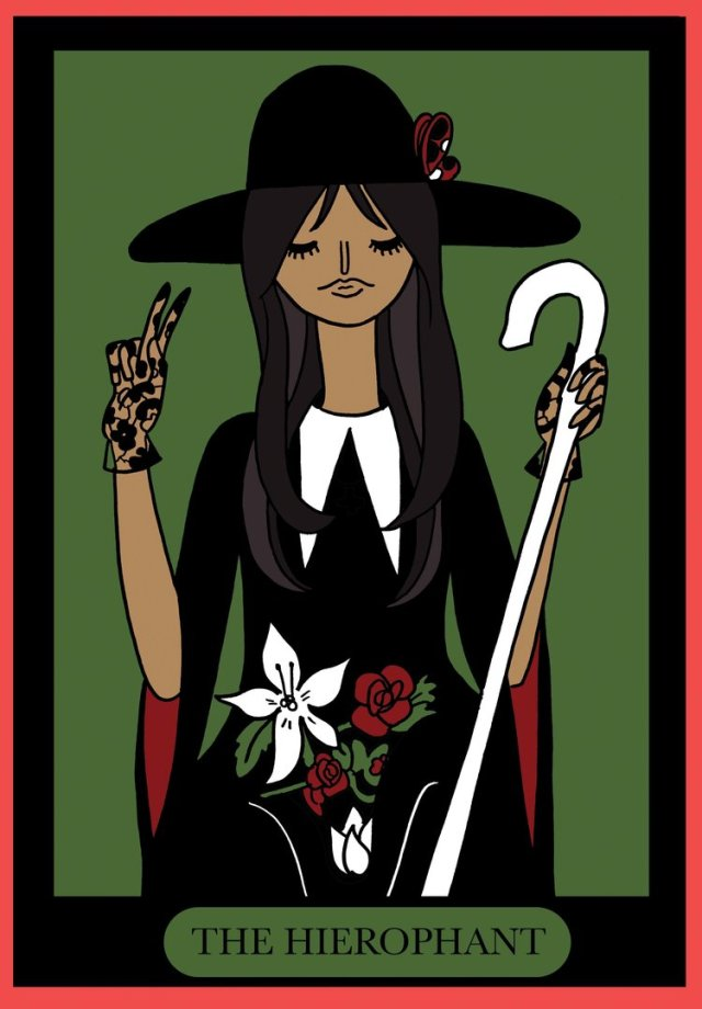 HM staff favorites the-hierophant-card by Katie Skelly