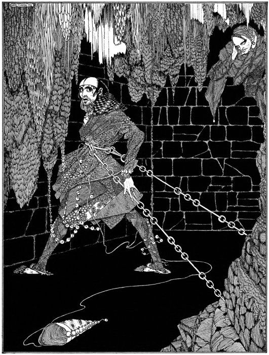 "Henry Clarke's illustration for ""Cask of Amontillado"""