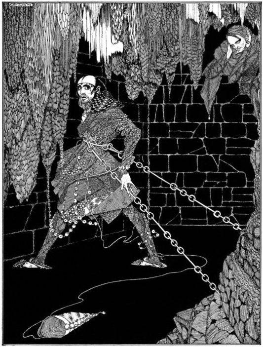 "Henry Clarke's illustration for ""Cask of Amontillado"""