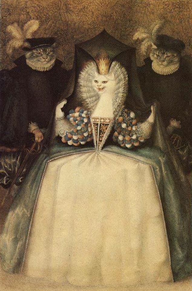 Gennady Spirin, from The White Cat.