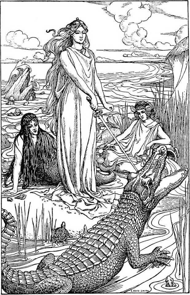 image from The Book of Nature Myths by Florence Holbrook, 1902.