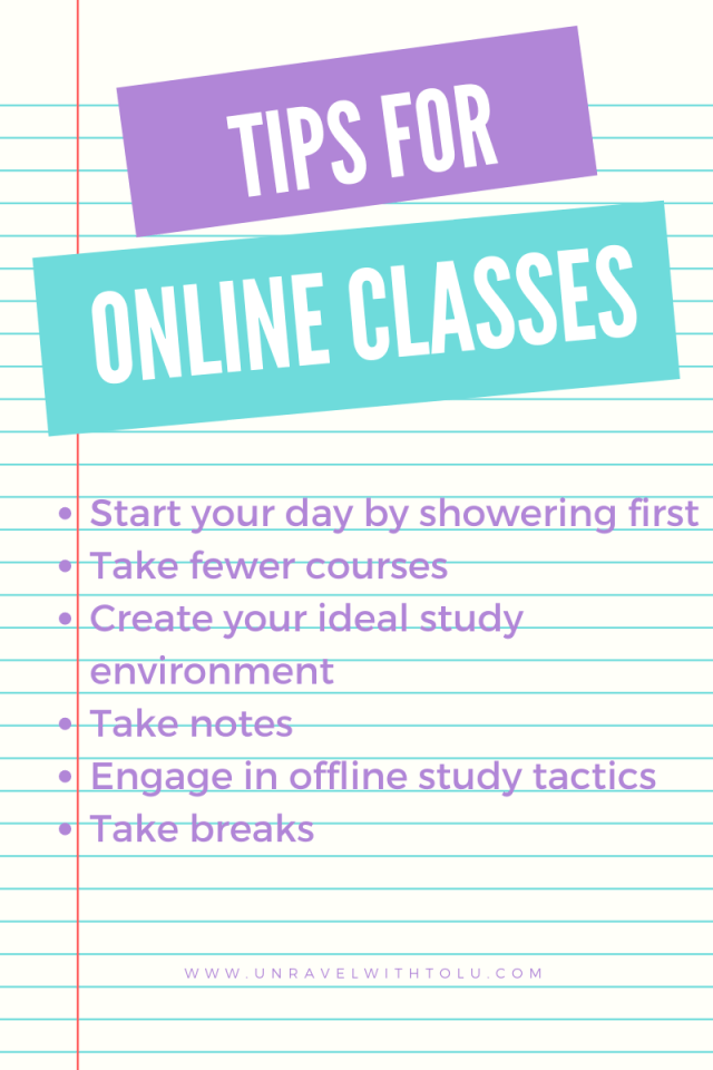 Tips For Taking Online Class