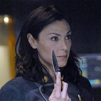 Michelle Forbes as Cain. Yeah, shes scarier.