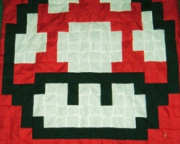 Video Game Blankets Full of Quilted Pixel Awesomeness