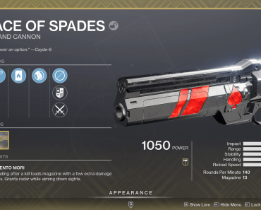Exotic hand cannons Destiny 2: Ace of Spades