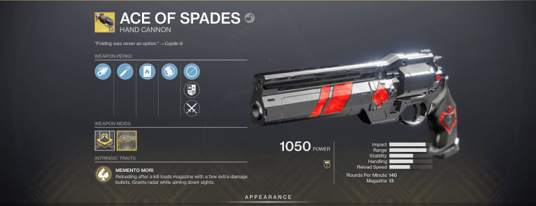 Our 5 Favorite Exotic Hand Cannons in Destiny 2