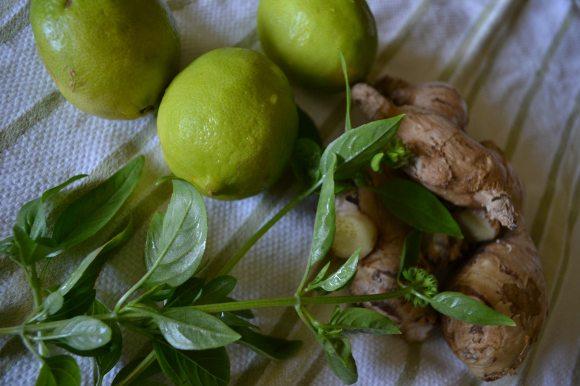 Basil, Ginger, Limes