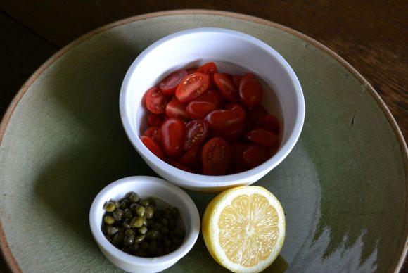 Cherry Tomatoes, Capers, Lemon