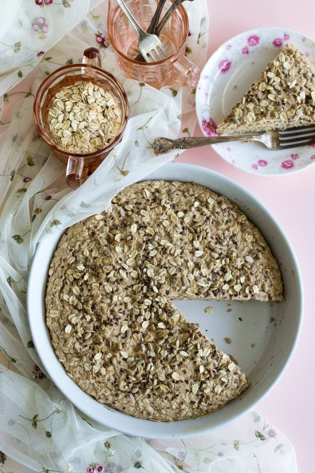 Oil-free Oat Quickbread with Flaxseeds & Sunflower Seeds by An Unrefined Vegan