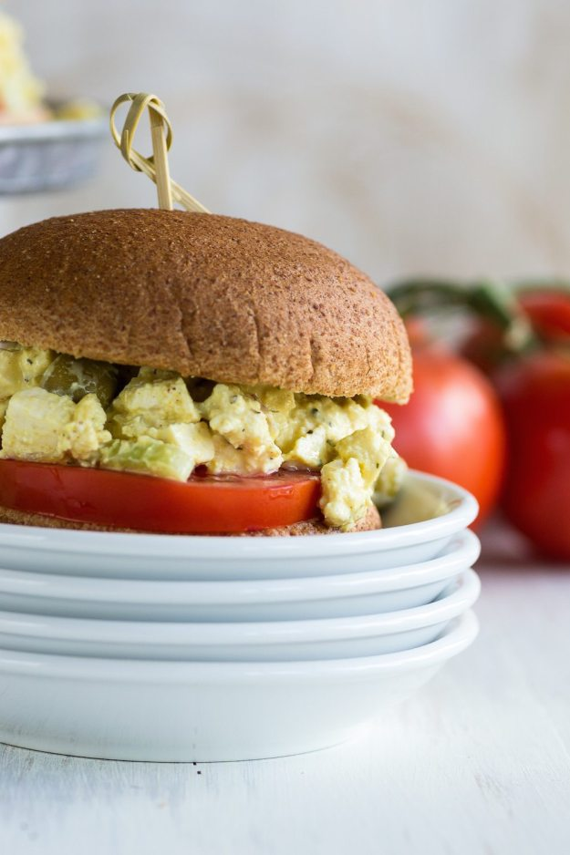 Tofu Salad Sandwiches by An Unrefined Vegan