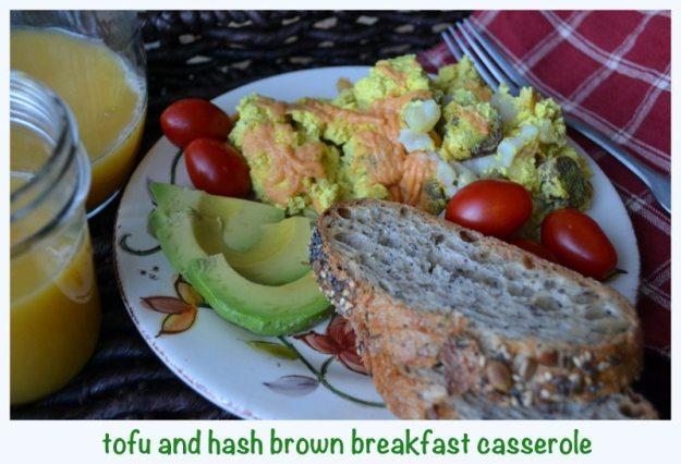 Tofu Hash Brown Breakfast Casserole