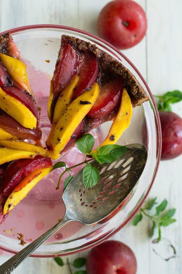 Plum & Mango Tart by An Unrefined Vegan