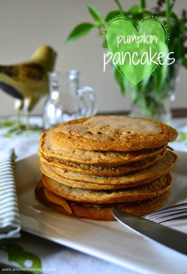 Vegan Pumpkin Pancakes by An Unrefined Vegan