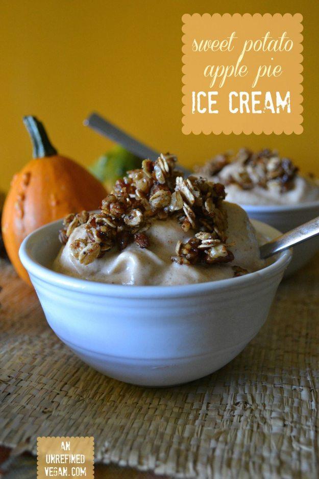 Sweet Potato Apple Pie Ice Cream by An Unrefined Vegan