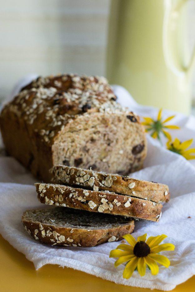 Vegan Carrot Walnut Bread w/ Raisins and Ginger by An Unrefined Vegan