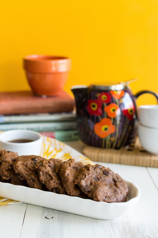 Oil-free Triple Orange Chocolate Chocolate Chip Cookies by An Unrefined Vegan