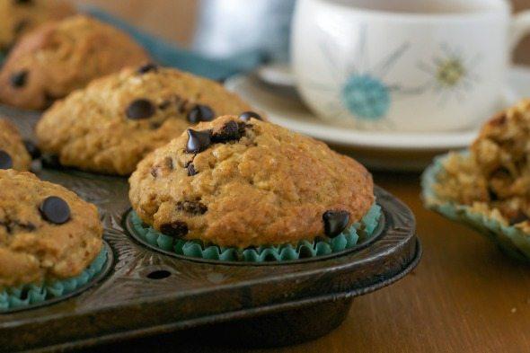 Coconut Chocolate Chip Muffins Jazzy Vegetarian