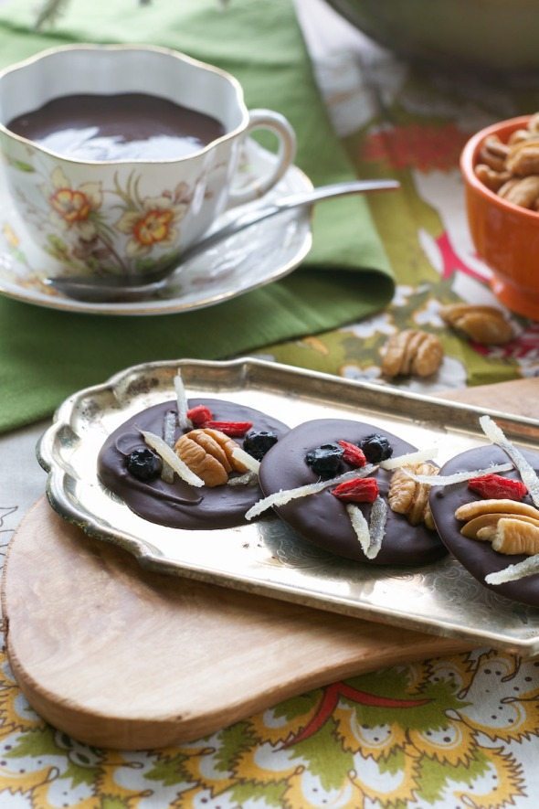 Mendiants from Vegan Chocolate via An Unrefined Vegan