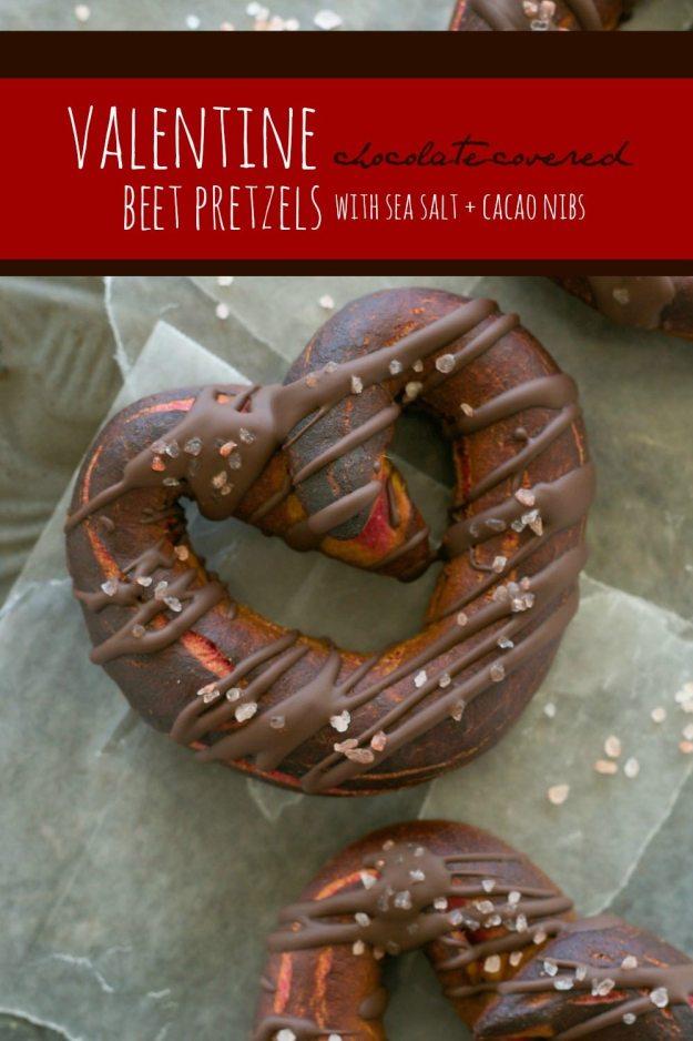 Valentine Chocolate-Covered Beet Pretzels An Unrefined Vegan