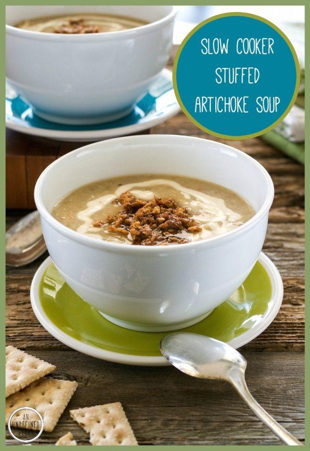 Stuffed Artichoke Soup by An Unrefined Vegan