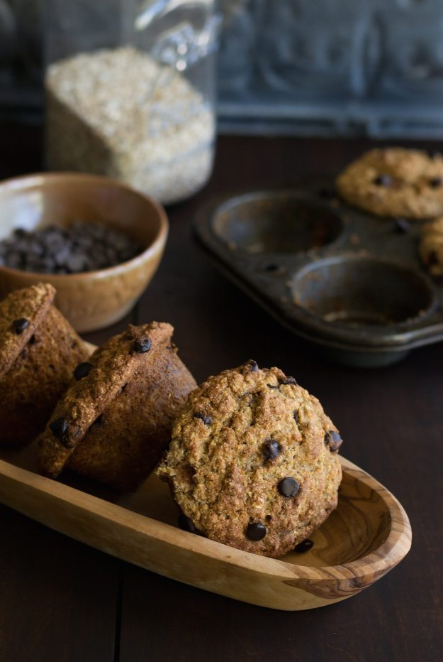 Multigrain Chocolate Chip Muffins by An Unrefined Vegan