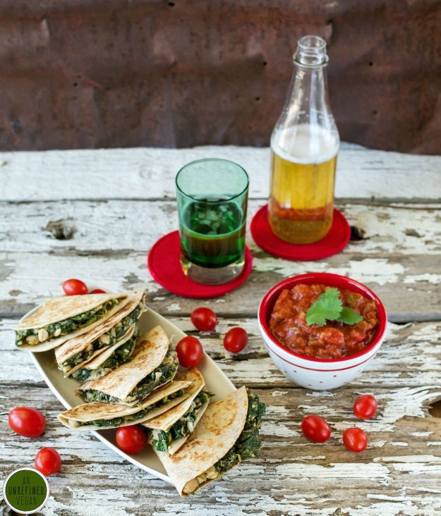 Spinach & White Bean Quesadillas from Cook the Pantry Photo by Annie Oliverio