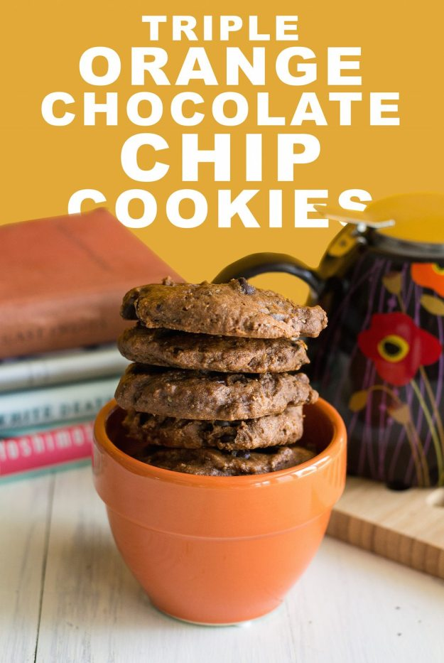Triple Orange Chocolate Chocolate Chip Cookies by An Unrefined Vegan